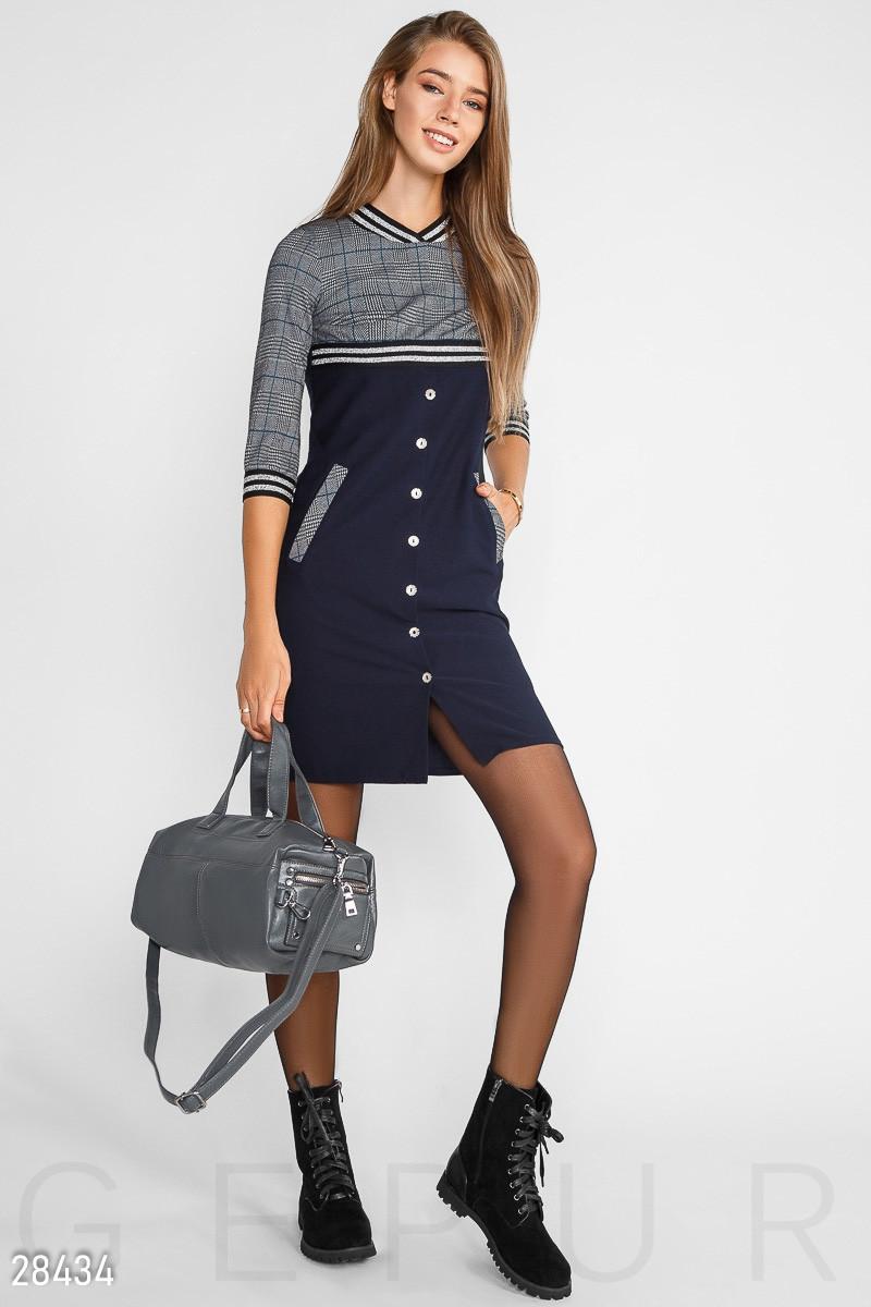 Деловое лаконичное повседневное платье