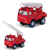 Коллекционная металлическая инерционная модель (детская машинка) - Пожарная машина, KS 3507 W