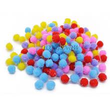Набор мягких шариков-помпонов - 50шт., размер одного помпончика 1,5см