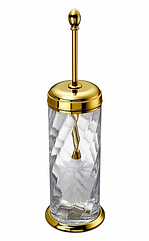 Spiral Ёршик напольный с крышкой, золото