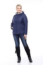 Куртка рожева на синтепоні великих розмірів весняна 50,52,54,56,58,60, фото 3