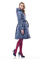 Женское пальто хаки на плащевке расклешенное приталенное весна-осень 2018, размер 42-50, фото 3