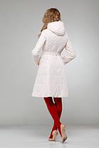 Женское пальто светлое на плащевке расклешенное приталенное весна-осень 2018, размер 42-50, фото 2