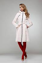 Женское пальто светлое на плащевке расклешенное приталенное весна-осень 2018, размер 42-50, фото 3