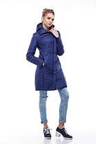 Пудровое пальто нижче стегна весна-осінь 2018, розміри 44-54, фото 3