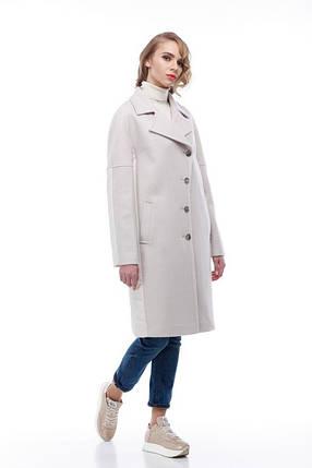 Комбинированное пальто кашемир и плащевка тренд года Италия и Китай кашемир 100% шерсть, фото 2