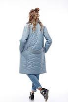 Комбинированное пальто кашемир и плащевка тренд года Италия и Китай кашемир 100% шерсть, фото 3