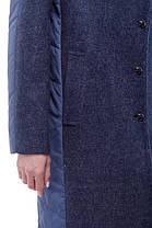 Женское пальто синий джинс, кашемир и плащевка тренд года 2018, Италия и Китай кашемир 100% шерсть, фото 2