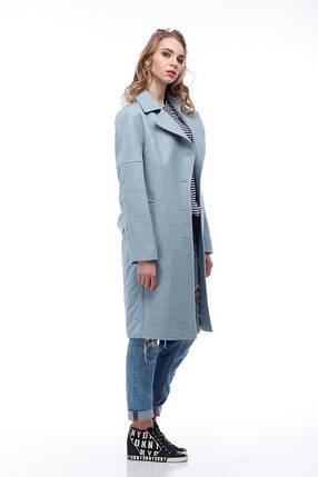 Комбинированное пальто кашемир и плащевка тренд года 2018, Италия и Китай кашемир 100% шерсть, фото 2