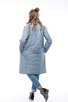 Комбинированное пальто кашемир и плащевка тренд года 2018, Италия и Китай кашемир 100% шерсть, фото 3