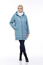 Стеганое модное пальто кашемир и плащевка большие размеры от 42 до 54, фото 2