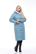 Пальто демисезонное высокого качества 48-60 больших размеров стеганое длинное 2019  , фото 3