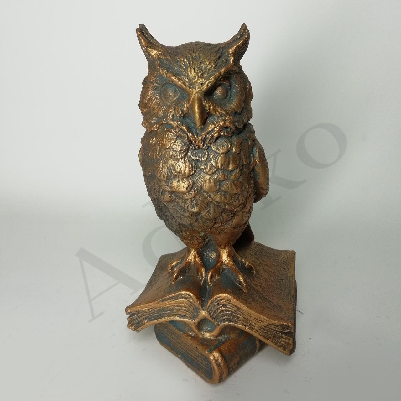 Статуетка Мудра сова на книзі 15 см