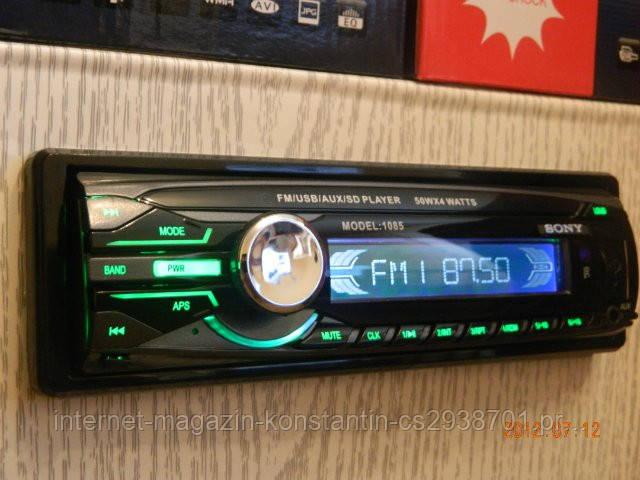 Автомагнитола Sony 1085 с USB, FM, MP3! Новая! Съемная панель!