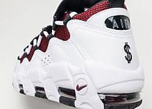 Мужские кроссовки Nike Air More Money White/Black - Team Red aj2998 100, Найк Аир Мор, фото 3