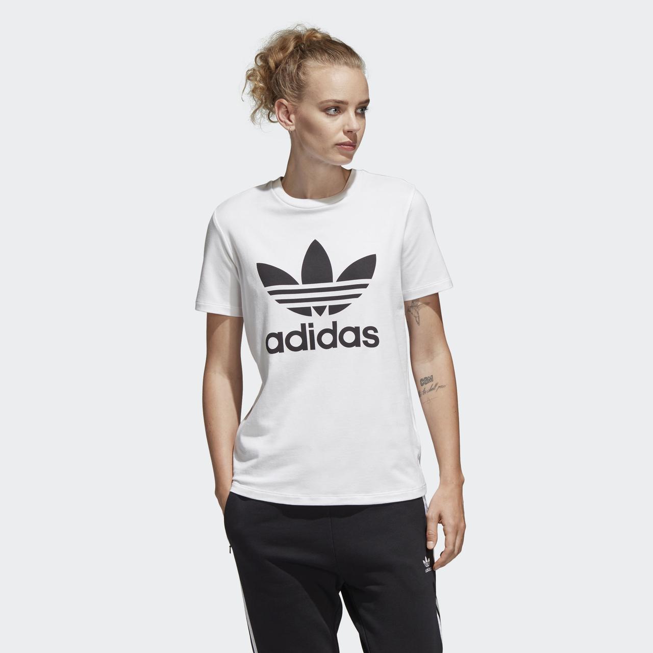 Женская футболка Adidas Originals Adicolor Trefoil (Артикул: CV9889)