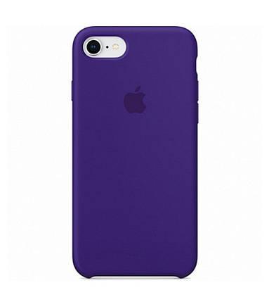 Силиконовый чехол для iPhone 7/8 фиолетовый, фото 2