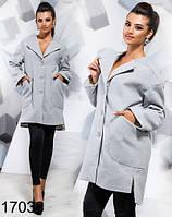 Осеннее пальто с карманами три цвета 817038