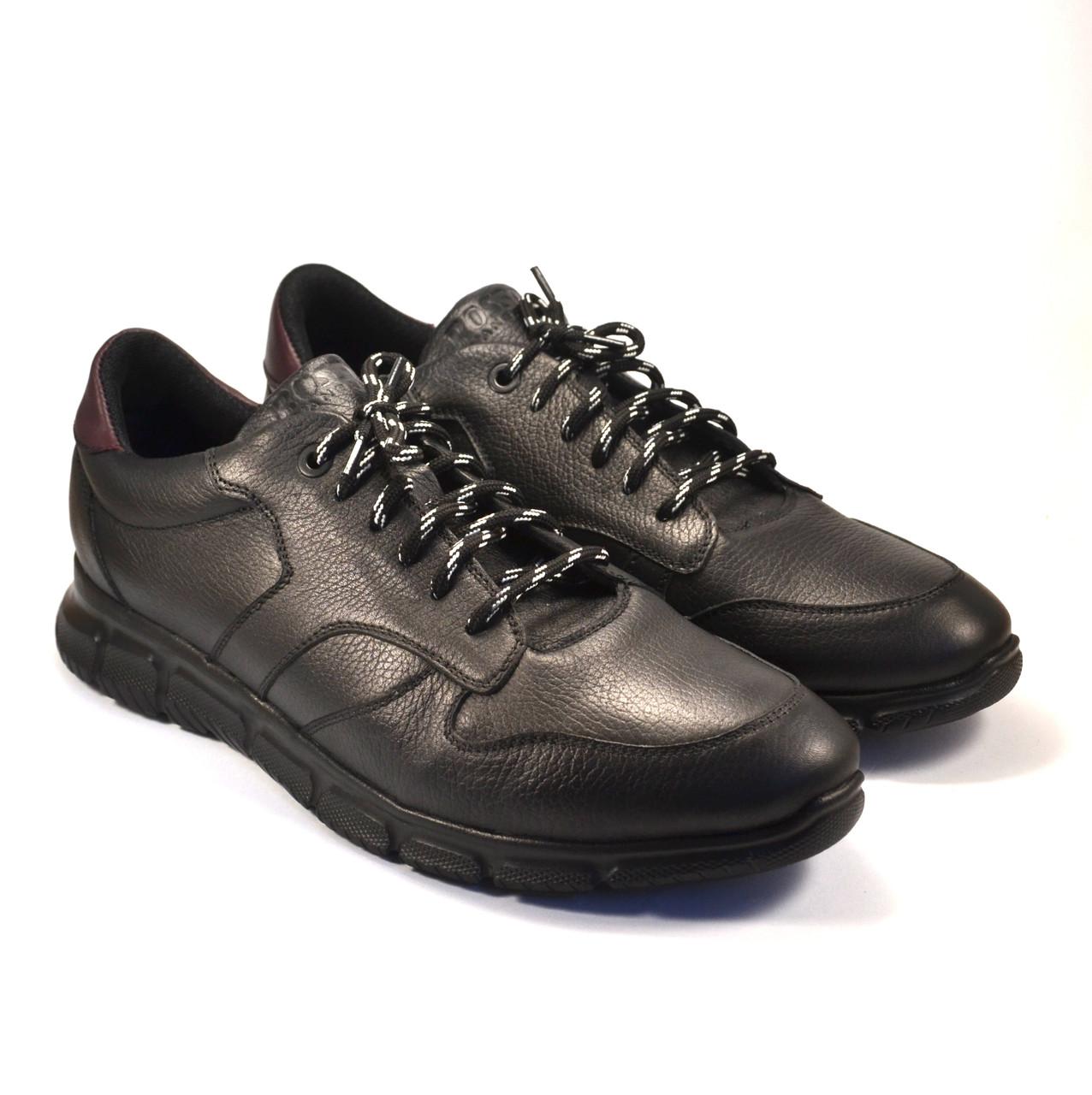 Кожаные черные кроссовки сникерсы мужские Rosso Avangard Black Panther