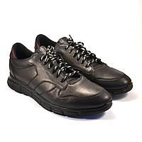 Кожаные черные кроссовки сникерсы мужские Rosso Avangard Black Panther, фото 1