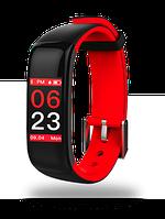 Фитнес браслет P1 , red, цветной экран, тонометр и пульсомер