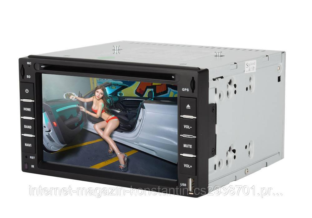 "Автомагнитола 2DIN 7"" Pioneer 6281 с DVD,GPS,TV,USB, AUX! 4*52 Вт НОВАЯ"