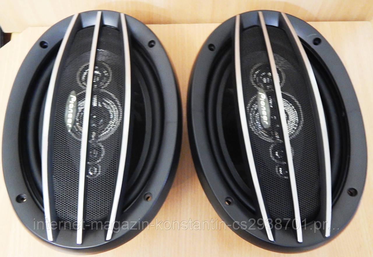 Автомобільна акустика колонки Pioneer TS-A6994S 6х9 овали (600W) 3х смугові