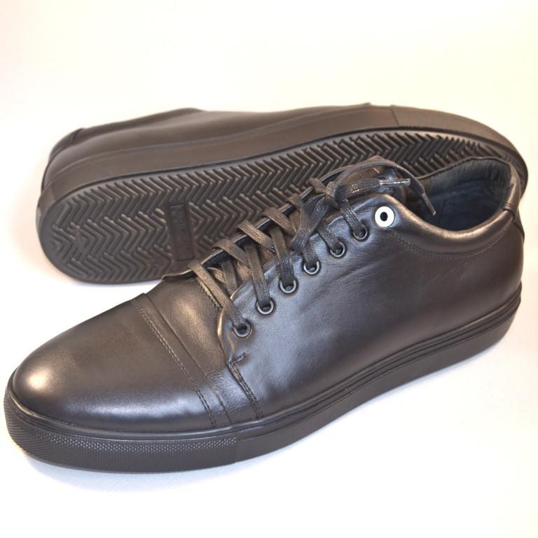 Мужская обувь больших размеров кроссовки кеды кожа черные Rosso Avangard BS Gushe Black