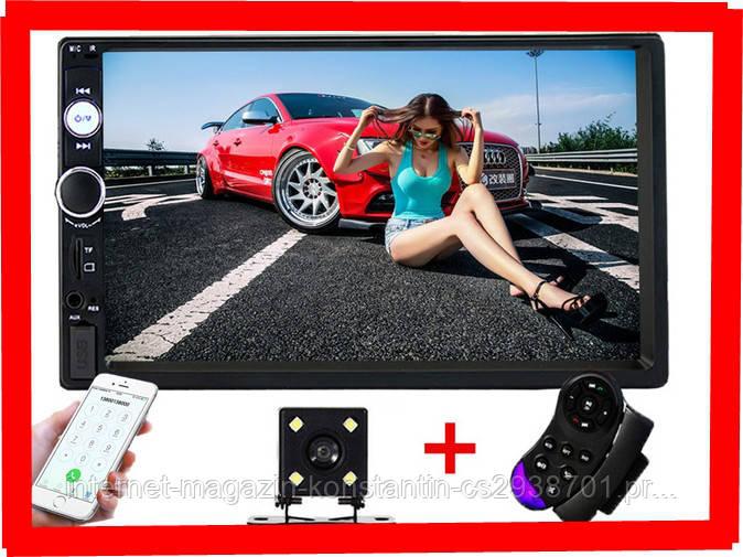 "Автомагнитола 2Din Pioneer 7010B с Экраном 7"" дюймов сенсор + USB, SD, FM, Bluetooth+КАМЕРА!"