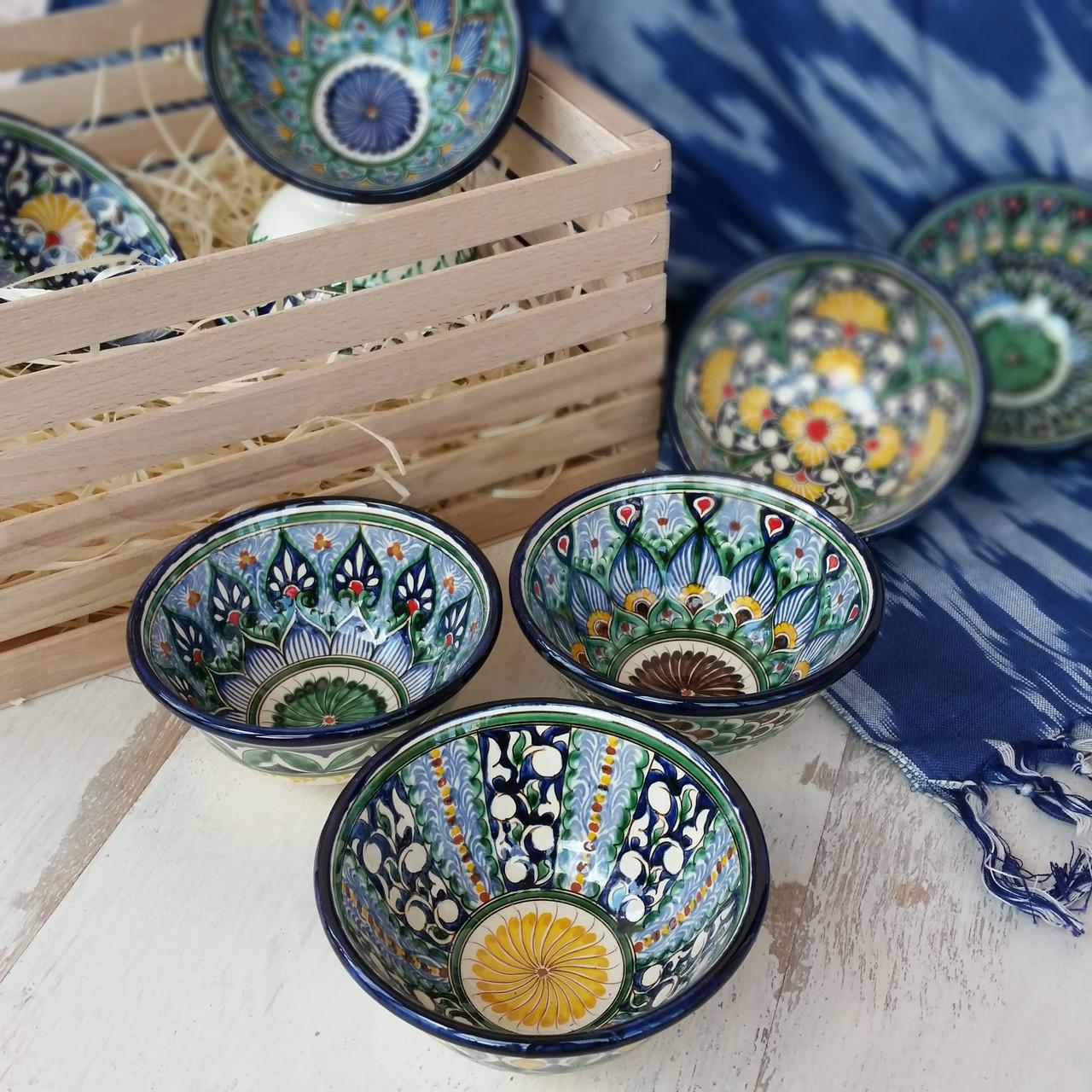 Узбекская пиала ручной работы ~200 мл, d 11 см. Керамика