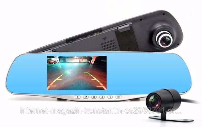 Видеорегистратор зеркало DVR L706 BlackBox Full HD 1080P на 2 камеры!