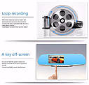 Видеорегистратор зеркало DVR L706 BlackBox Full HD 1080P на 2 камеры!, фото 2
