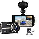 """Автомобильный Видеорегистратор DVR T653 4"""" Full HD на 2 камеры!, фото 2"""