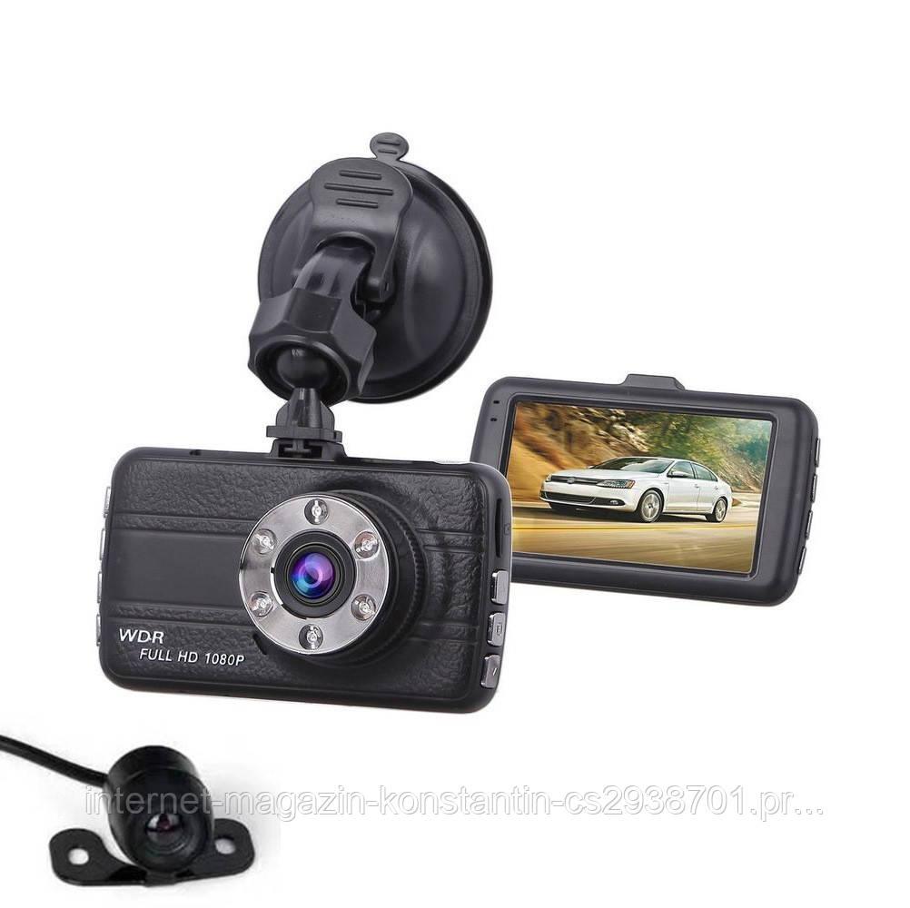 Автомобильный Видеорегистратор DVR T660+, Full HD на 2 камеры