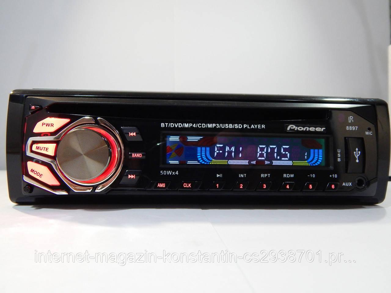 Автомагнитола Pioneer DEH-9650SD с Bluetooth,USB, SD, AUX, FM, DVD Новинка!