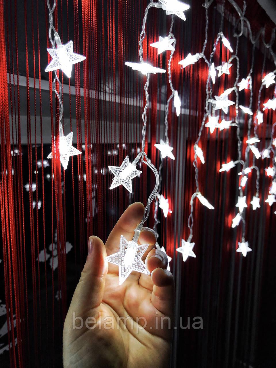 Гирлянда штора-бахрома на окно «Моя звезда»