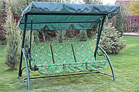 Качель садовая ЭЛЕГИЯ (зеленый каркас)