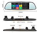 """Автомобильный видеорегистратор зеркало D35 7"""" сенсор, 2 камеры, GPS навигатор, WiFi, 8Gb, Android, 3G , фото 3"""