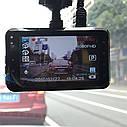 Автомобильный Видеорегистратор DVR T639, Full HD на 2 камеры, фото 4