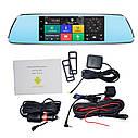 """Автомобильный Регистратор зеркало DVR T518 Silver 7"""" сенсор, 2 камеры, GPS+ WiFi, 8Gb, Android, 3G + ОБЗОР, фото 2"""