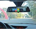 """Автомобильный Регистратор зеркало DVR T518 Silver 7"""" сенсор, 2 камеры, GPS+ WiFi, 8Gb, Android, 3G + ОБЗОР, фото 3"""