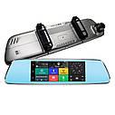 """Автомобильный Регистратор зеркало DVR T518 Silver 7"""" сенсор, 2 камеры, GPS+ WiFi, 8Gb, Android, 3G + ОБЗОР, фото 4"""