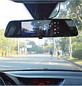 """Автомобильный Регистратор зеркало DVR T518 Silver 7"""" сенсор, 2 камеры, GPS+ WiFi, 8Gb, Android, 3G + ОБЗОР, фото 5"""