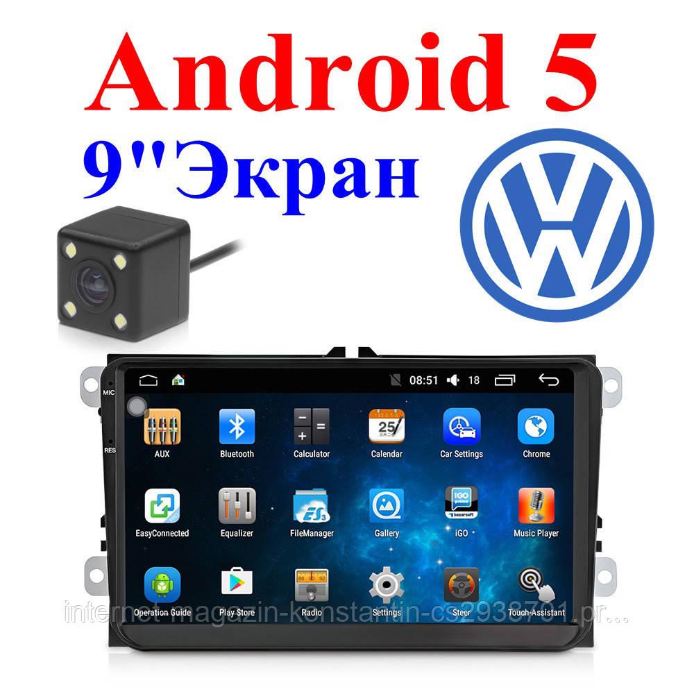 Штатная магнитола на Volkswagen Passat B6/B7/CC/Tiguan/Jetta/Polo/Caddy/Golf Android 5