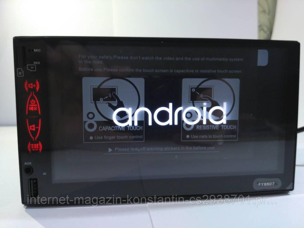 2din Автомагнитола Pioneer FY6507 GPS + WiFi + 4Ядра +Android  6 + ВИДЕО-ОБЗОР