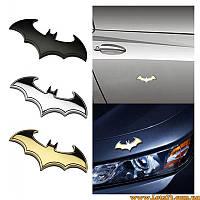 Авто значок Batman (3D наклейка летучая мышь на автомобиль, мотоцикл, машину)