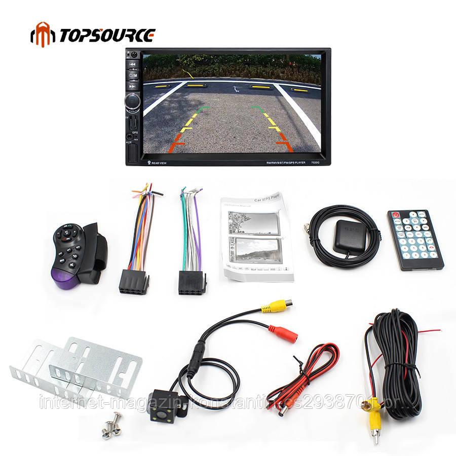 "Автомагнитола 2Din Pioneer 7021G 7"" Экран, GPS, Bluetooth, Читает ВИДЕО+ Пульт+Шахта! НОВИНКА 2017!"