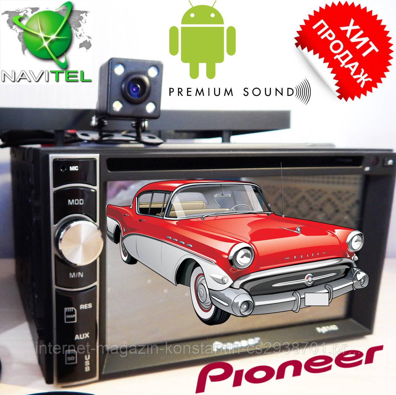 2din Автомагнитола Pioneer FY6140B DVD,GPS, WiFi + 4Ядра +Android  6 + КАМЕРА
