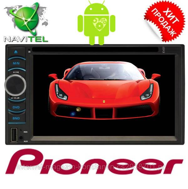 2din Автомагнитола Pioneer FY6116B DVD,GPS, WiFi + 4Ядра +Android  6  Топ продаж!