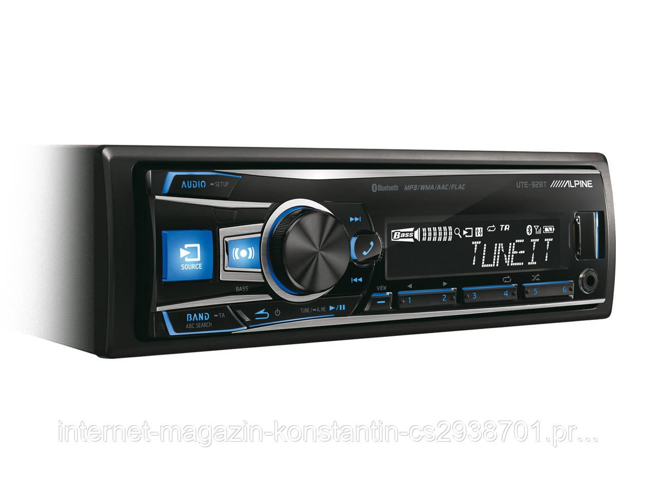 Автомагнітола Alpine UTE-92BT 4*50 Вт,USB,MP3,Bt,FM.Супер ціна!!!